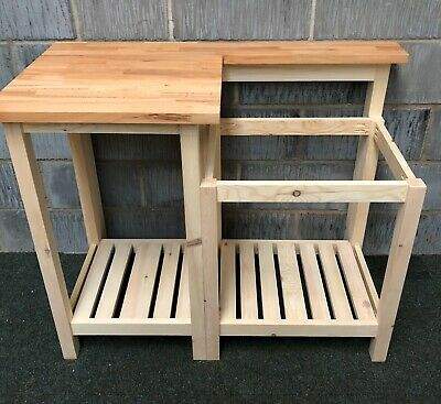 Solid Wood Unit With Oak Top For Belfast Sink , Large Drainer Simple Practical • 445£