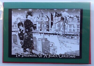 £2.99 • Buy NEW! Goths At Whitby Christmas Card • Handmade Unique Design • Whitby Harbour