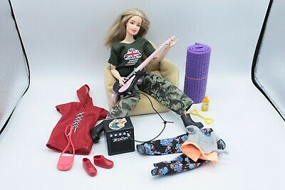 Barbie Made To Move Curvy Articulated Yoga Fashion Fever Guitar OOAK Doll Top • 49.99£