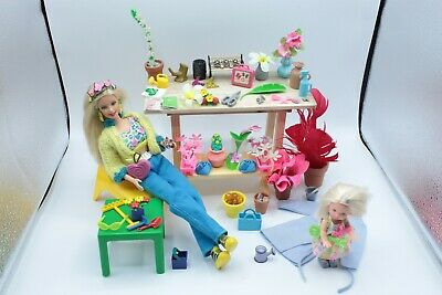 Articulated Barbie + Kelly Doll Gardener Playset Vintage OOAK Accessories Gift • 64.99£