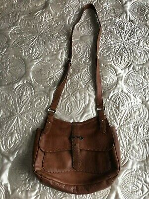 Bailey & Quinn Great Quality Real Leather Brows Side Shoulder Cross Body Bag • 26£