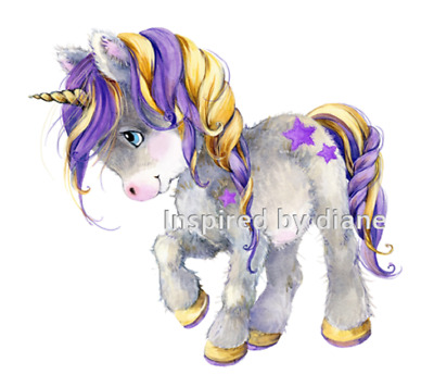 Transparent Wall Sticker From Painted, Cute Unicorn, Kids, Nursery, Decal, 215 • 5.99£