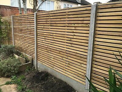 Garden Fence Concrete Gravel Board Base Panel Recessed One Side 182x30cm 6 X 1ft • 15£