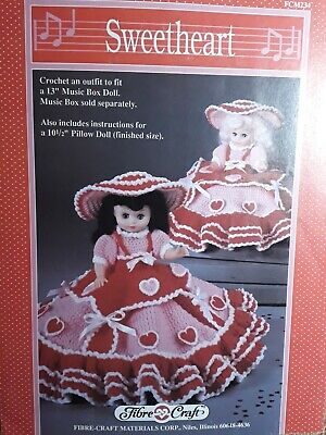 £4.95 • Buy Crochet Pattern Fibre Craft, Doll SWEETHEART VALENTINES 13  Dolls Clothes