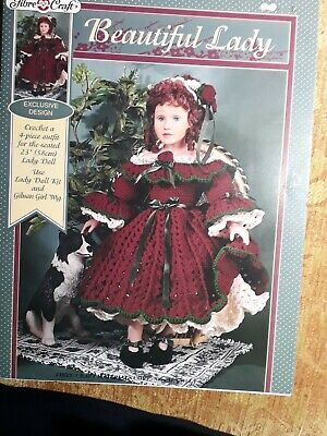 £4.95 • Buy Crochet Pattern Fibre Craft, Doll BEAUTIFUL LADY 23  Dolls Clothes Outfit
