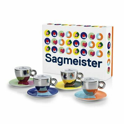 ILLY ART COLLECTION 4 Cappuccino Cups Stefan Sagmeister | Limited Edition 23389 • 126.60£