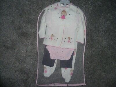 Baby Girls 6 Piece Outfit 0-3 Months • 7.99£
