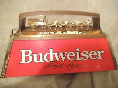 $ CDN423.61 • Buy Vintage Budweiser Hanging Pool Table Light With Clydesdale Horses. Light Works!