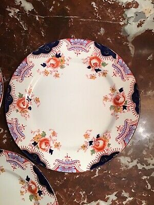 Sampson Bridgwood & Son DAWLISH  Anchor China (Qty3) 7 In Dessert/Salad Plates • 11.88£