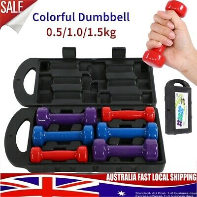 AU46.88 • Buy 6Kg Dumbbell Weights Set Anti-slip Exercise Fitness Home Gym Arm Fitness Dumbell