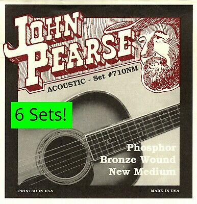 $ CDN54.47 • Buy 6 Sets! John Pearse 710 710NM Acoustic Guitar Strings PhosphorBronze .013 -.055W
