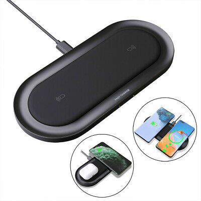 AU21.99 • Buy 20W Qi Wireless Charger Dual Charging Mat Pad For IPhone 12 Pro 11 X Samsung S20