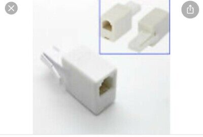 BT Plug To RJ11 Female Socket Crossover/Cross Adapter – Fax Modem Router Phone • 1.78£