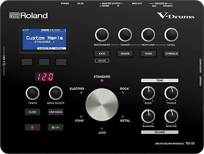 AU1640.18 • Buy ROLAND V-Drum Sound Module Black TD-25 With Tracking Number NEW