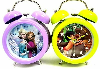 £9.99 • Buy Jungle Book Or Frozen Disney Double Bell Alarm Clock Home Bed Side Table Kids