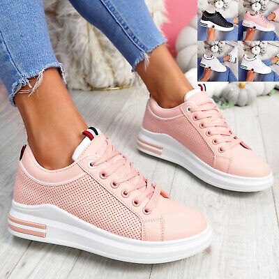 $ CDN26.28 • Buy Womens Ladies Lace Up Trainers Comfy Sneakers Plimsolls Women Shoes Size