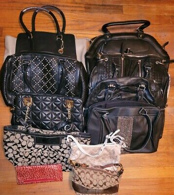 $ CDN94.95 • Buy Lot Of Pre-owned Handbags Including Authentic Coach. See Pics
