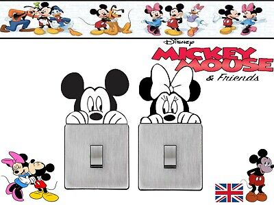 Mickey And Minnie Mouse Vinyl Decals Children Room Light Switch Stickers 2 Pack • 2.49£