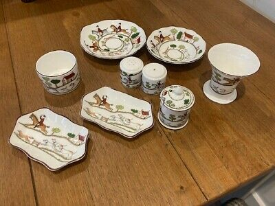 Coalport Hunting Scene Selection - 8 Pieces • 110£
