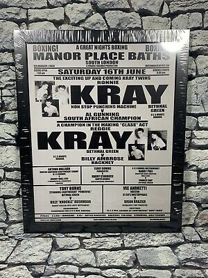 KRAY Brothers Framed Picture London Gangsters Krays Boxing Match Poster WALL ART • 14.99£