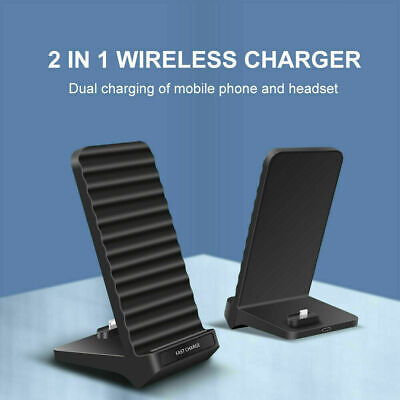 AU19.99 • Buy 2IN1 15W Qi Fast Wireless Charger Dock Stand For Airpods IPhone 12 Pro Max 11 XS