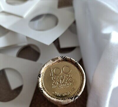 AU2.50 • Buy 2018 Australian $1 One Dollar Coin 100 Years Of ANZAC UNC From RAM Roll