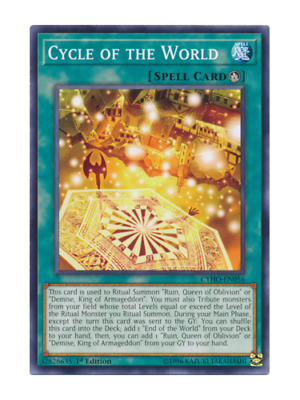 AU3.50 • Buy Cycle Of The World - Mint / Near Mint Condition YUGIOH Card