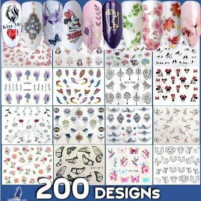 £1.65 • Buy Nail Art Stickers -Water Decals Flowers Lace Tribal  Jewels Feathers Butterfly🌸