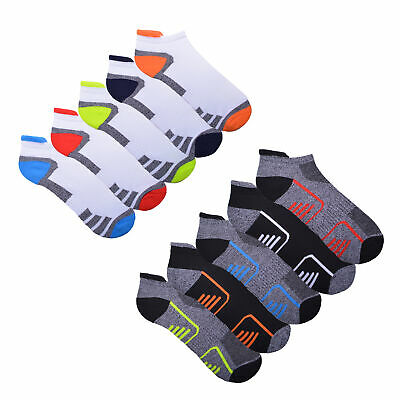 £4.99 • Buy Mens 5 Pack Trainer Liner Socks Invisible Gym Running Cushioned Socks Size 6-11