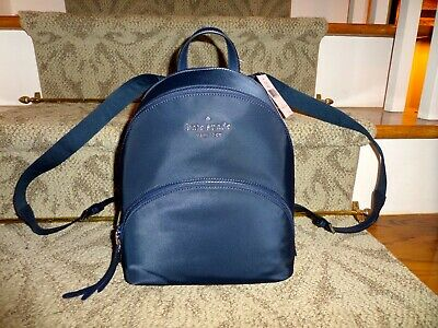 $ CDN97.30 • Buy $279 NWT Kate Spade Medium Karissa Nylon Backpack In Nightcap Navy Blue