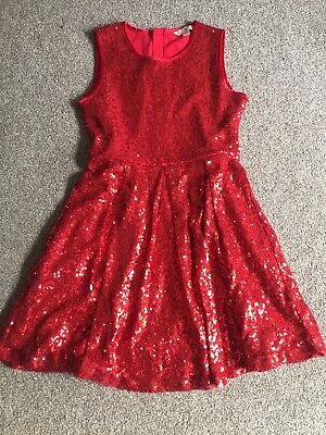 Girls Red Sequin Christmas Party Dress Yumi Girl Age 11-12 Years • 2.20£