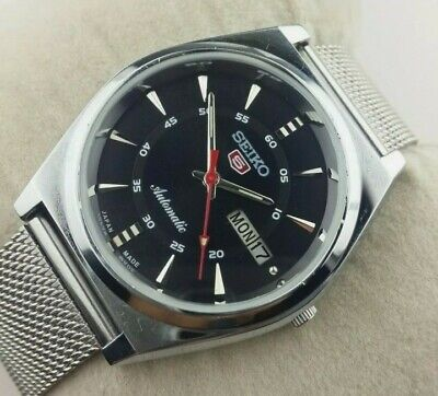 $ CDN64.88 • Buy Vintage Seiko 5 Elegant Black Automatic Japan Men's  Wrist Watch
