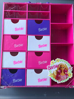 $ CDN12.98 • Buy Vintage 1993 Barbie Accessories Carrying  Case  Drawers Shelves By Mattel