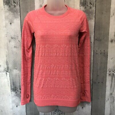 $ CDN45.40 • Buy Lululemon Rest Less Pullover Long Sleeve Heathered Electric Coral Size 2