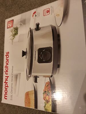 Morphy Richards 460017 3.5L Ceramic Slow Cooker Healthy Eating 3 Setting Kitchen • 19£