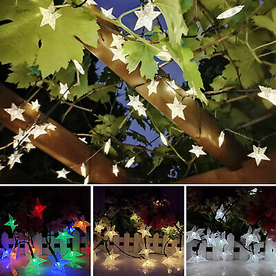 Solar Powered Fairy String LED Lights Waterproof Star Decor Party Garden Outdoor • 7.49£