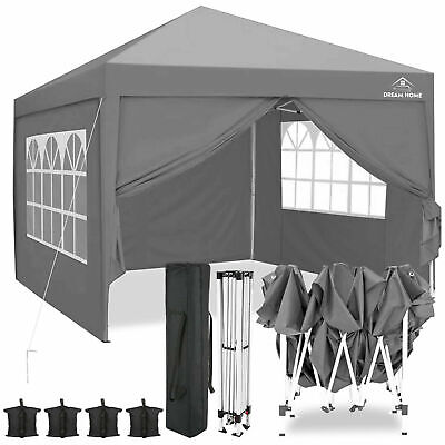 £139.99 • Buy 2MX2M 2.5MX2.5M 3MX3M Pop Up Gazebo Garden Party Tent With Sides Canopy Marquee