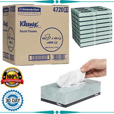 AU80.43 • Buy Facial Tissues Kleenex  White, 100 Tissues/Box, Case Of 48 Boxes, White 6.920 Kl