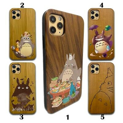 Totoro Wooden Case For IPhone 12 Pro Max 11 XR SE X 8 7 6 Plus Wood SN 26 • 10.72£