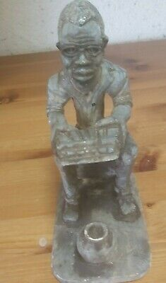 African Soapstone Musician Carved Figurine • 10£