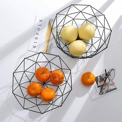 Iron Wire Fruit Bowl Bread Basket Storage Rack Holder Dish Dining Table Décor • 5.99£