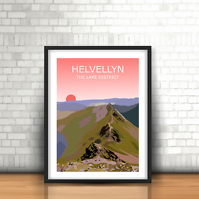 Helvellyn Sunset Art Print,The Lake District National Park Landscape, Fell Hike • 19.99£