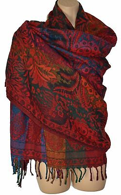 New Fairly Traded Flower Fleece Blanket Shawl Vegan Acrylic - Yak Wool • 18.99£