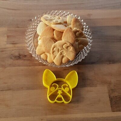 £4.99 • Buy French Bulldog Cookie Pastry Biscuit Cutter Icing Fondant Baking Clay Kitchen