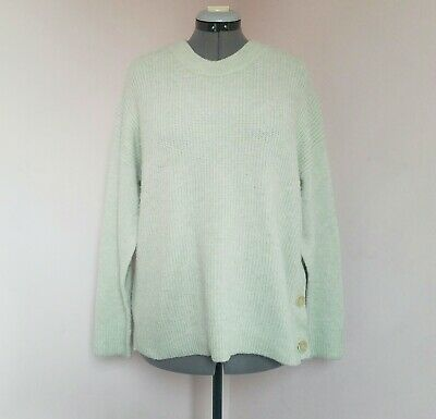 OLIVER BONAS Size 14 Pistachio Green Chunky Knit Ribbed Slouchy Jumper.VGC • 2.20£