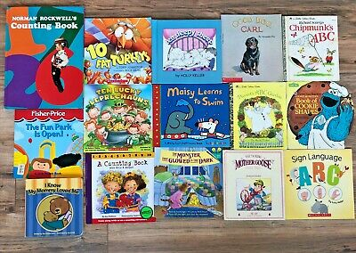 $ CDN37.83 • Buy Lot Of 15 Preschool K Counting Alphabet ABC Learning Picture Books Numbers Sign