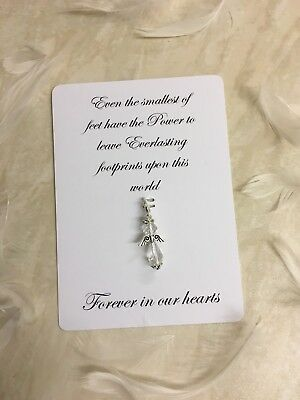 £2.70 • Buy Baby Loss Gift, Simple Miscarriage Gift, Angel Baby Charm, Clear Angel Clip-SALE