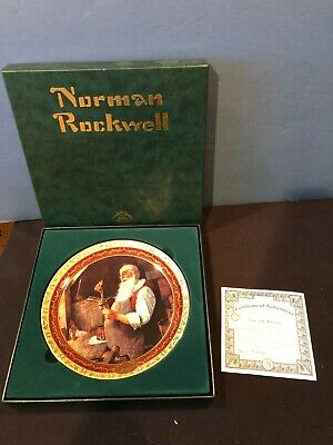 $ CDN19.64 • Buy Norman Rockwell's Christmas Memories 2000 Collector Plate Santa In His Workshop