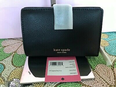 $ CDN82.07 • Buy Kate Spade Sylvia Medium Bifold Wallet Pwru7230 Black