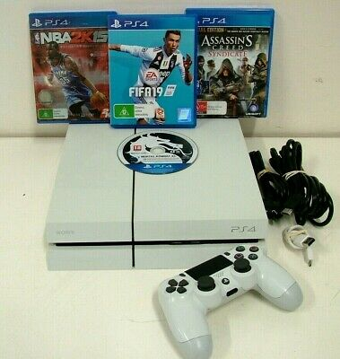 AU233.50 • Buy Sony PlayStation 4 PS4 500GB White Console CUH-1102A + 1 Controller & 4 X Games